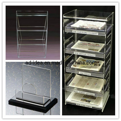 Clear Acrylic Stand, Acrylic Newspaper Exhibition Stand