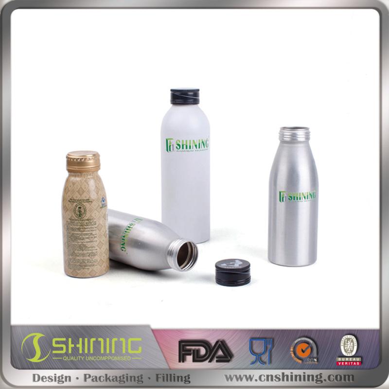 Aluminum Beverage Bottle with Ropp Cap