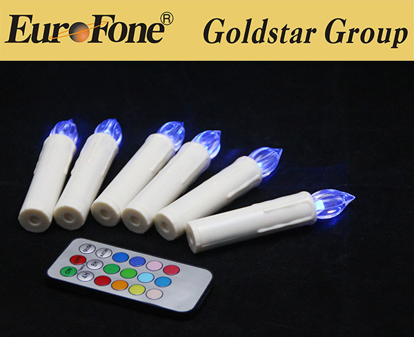 2015 Flameless LED Christmas Candle with Remote Control
