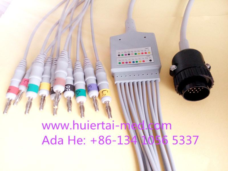 Kanz 16pin IEC 4.0banana 10 EKG/ECG Cable