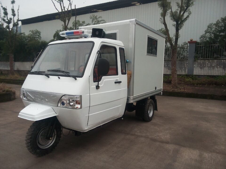 Closed Box of Chinese Three Wheel Ambulance