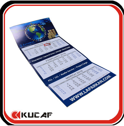 3 Months Wall Calendar 2017 Advertising Foldable Wall Calendar