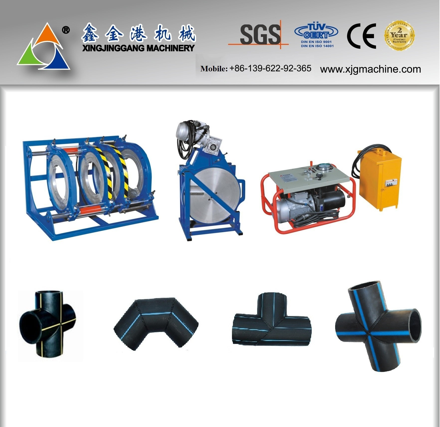 HDPE Pipe Butt Fusion Machine/HDPE Pipe Butt Welding Machine/ HDPE Pipe Fitting Welding Machine/Butt Welding Machine