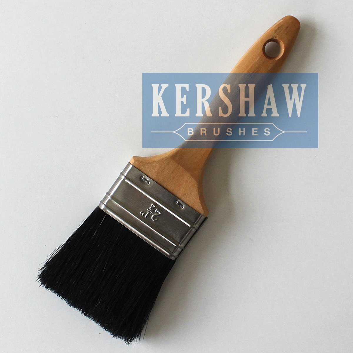Paint Brush (paintbrush, pure black bristle flat brush with hard wood handle, flat brush)