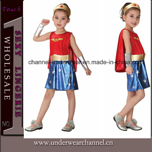Wholesale Superman Child Cosplay Holiday Girl Party Costume (TGY0087)