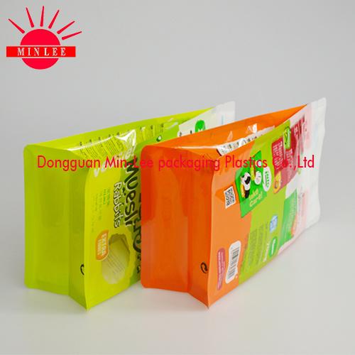 2016 Customized Printed Side Gusset Plastic Food Packaging Bag for Pet Food Packaging/Flat Bottom Bag