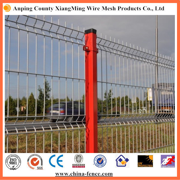 Green/Yellow Color Coated Safety Mesh Fence Security Fence 3D Fence