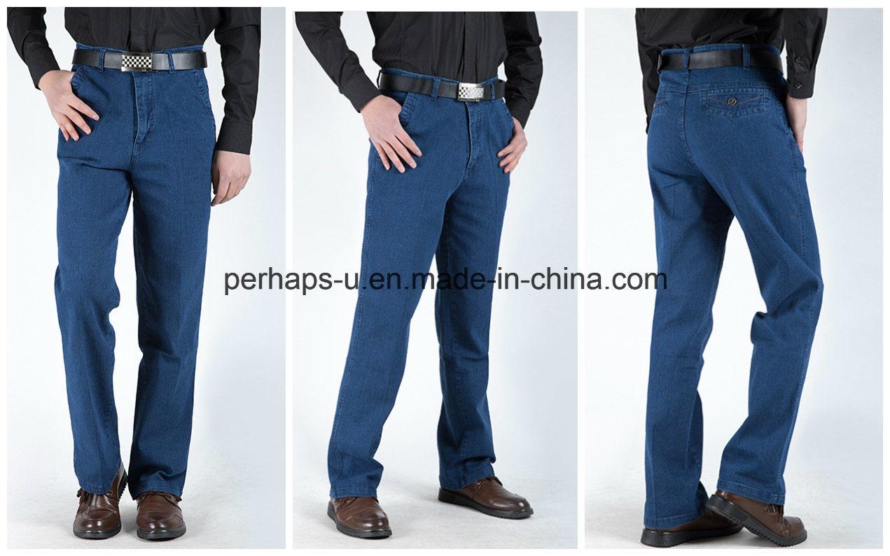 Wholesale Men′s Jeans Comfort Breathable Trousers