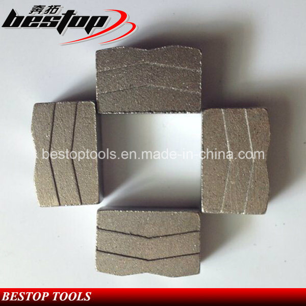 V Shape Diamond Segments for Hard Granite Cutting Blade