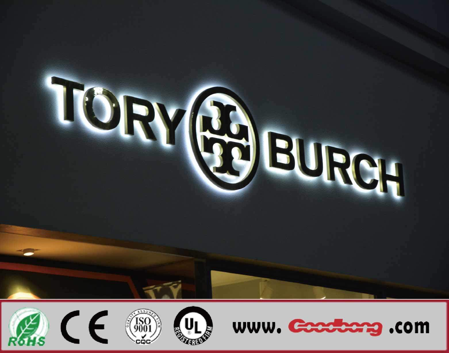 High Quality Chrome Acrylic LED Illuminated Channel Letter Signs