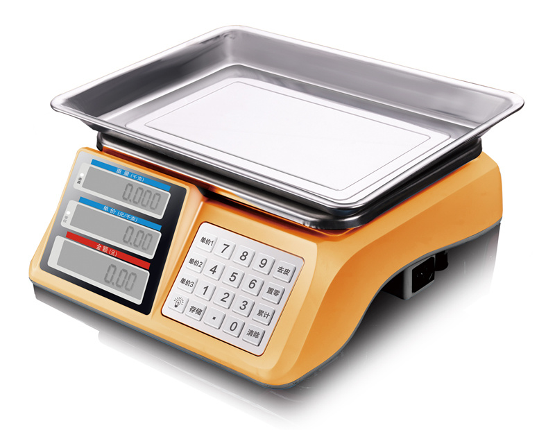 Electronic Price Weighing Scale with Stainless Steel Key (DH-608)