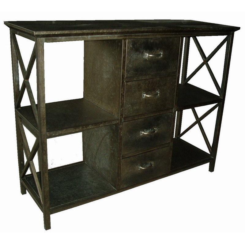 Antique Tin Metal Home Kitchen Metal Furniture