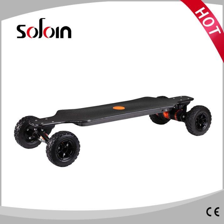 Carbon Fiber 1600W*2 Dual Motor 4 Wheel Self Balance Electric Skateboard (SZESK005)