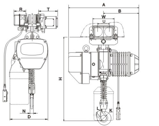 Building Hoist of 3ton Electric Chain Hoist