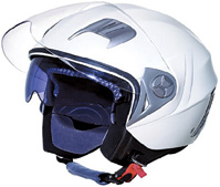 High Quality White Helmet for Motorcycle Parts