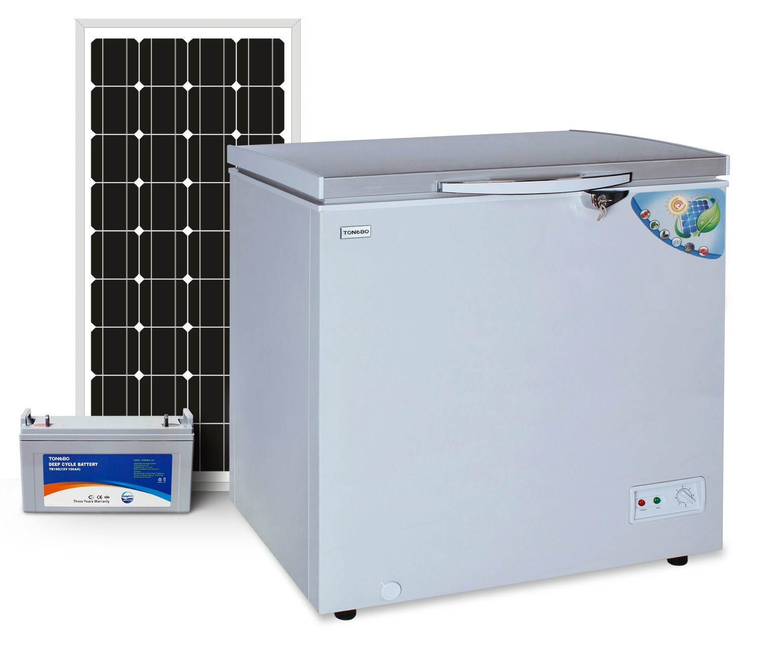 off Grid Solar Chest Freezer 140L Triple Power Integrated