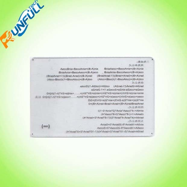Transparent PVC Card for Membership Use with Printing and Signature Stripe