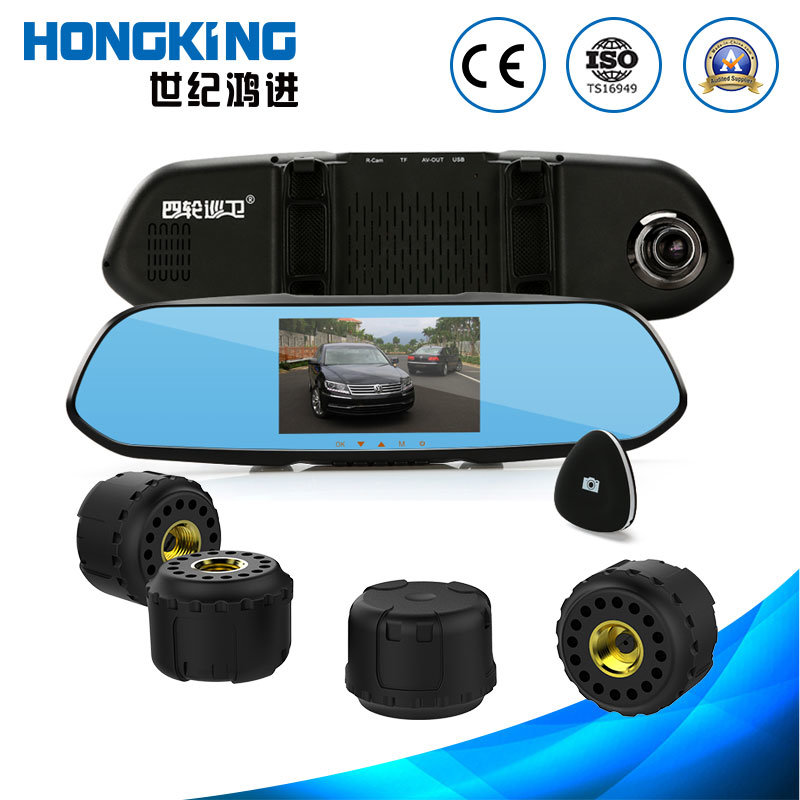 1080 HD High-Sensitivity CMOS DVR TPMS with External Sensor for Four-Wheel Small and Medium Size Vehicle, Car, Van