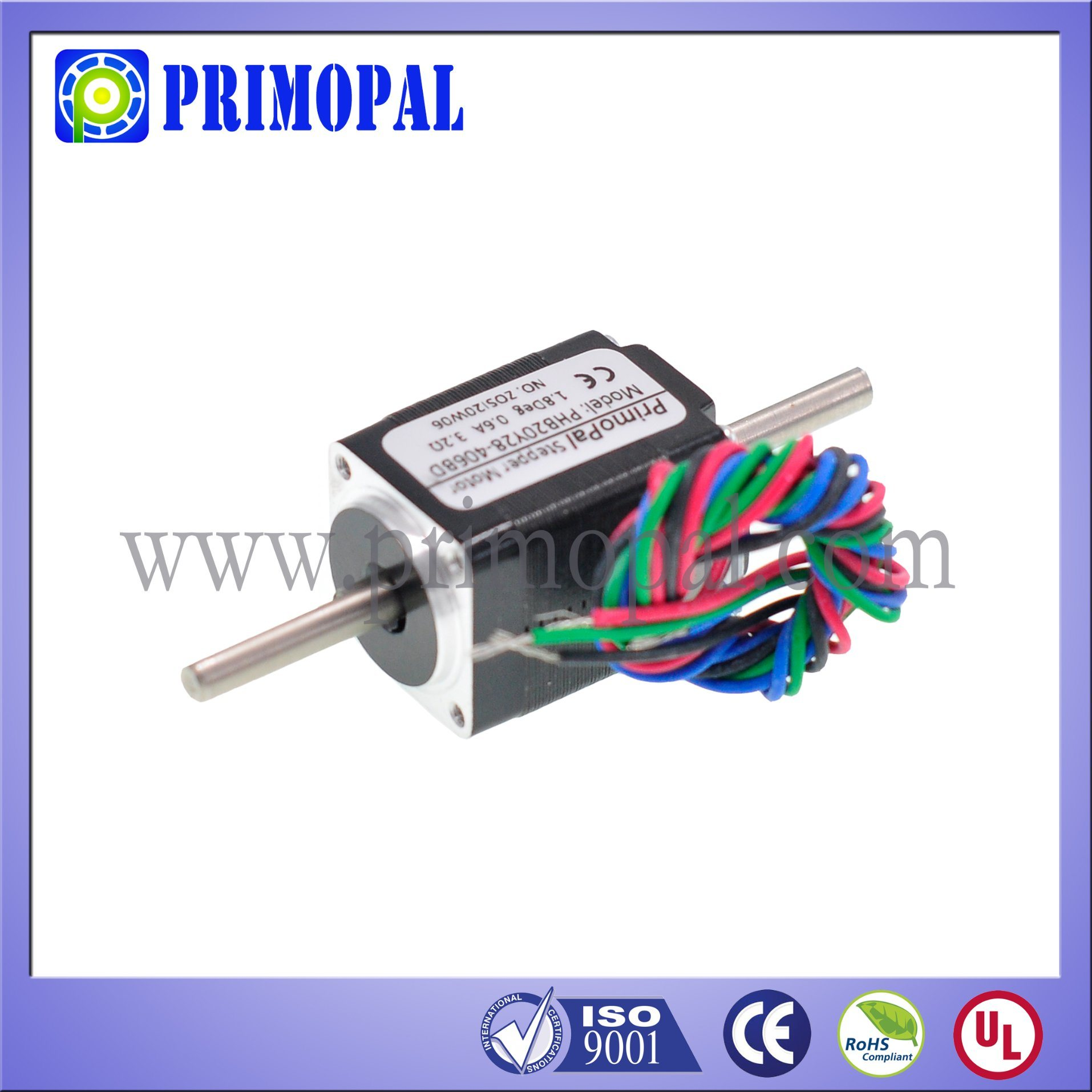 Miniature NEMA 8 Stepper Motor for CCTV System