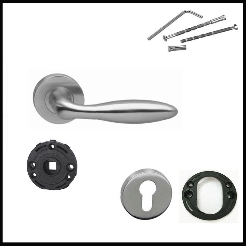 Jiangmen Hardware Factory 304 Stainless Steel Hollow Lever Door Handles