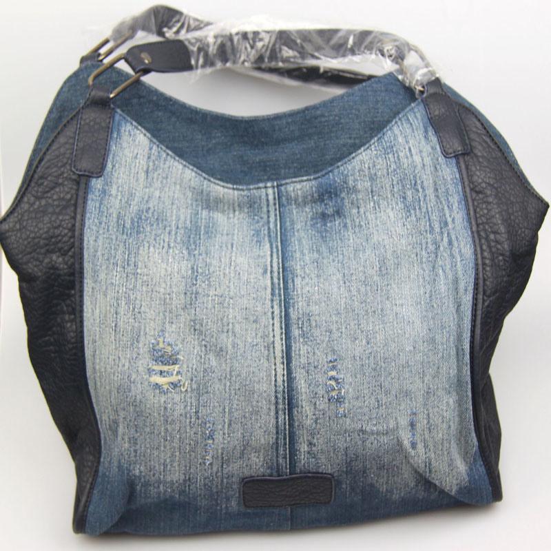 Ladies Washed Jeans Cotton Handbag Casual Fashion Handbag Fashion Accessory Supplier