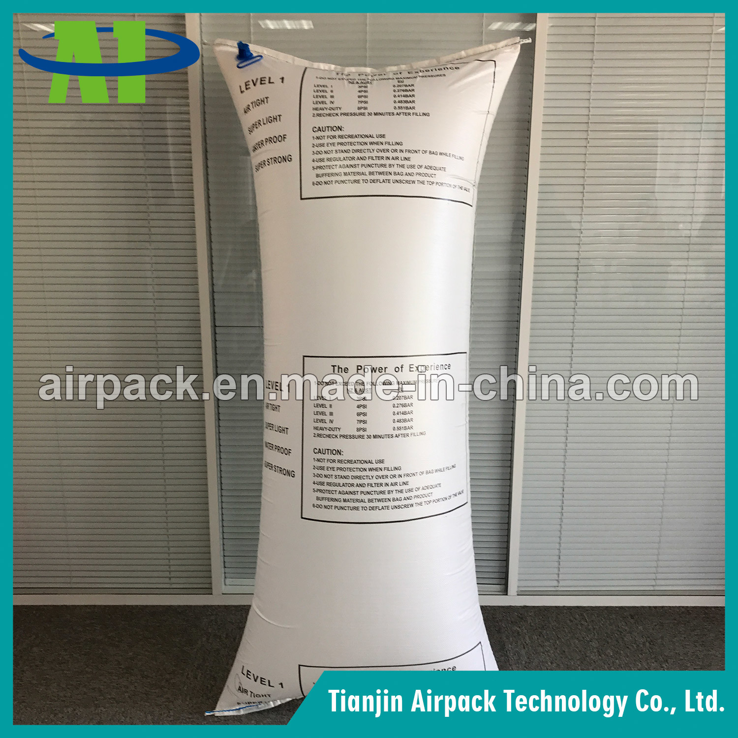 White PP Woven Dunnage Air Bag Protective PP Woven Buffer Bag
