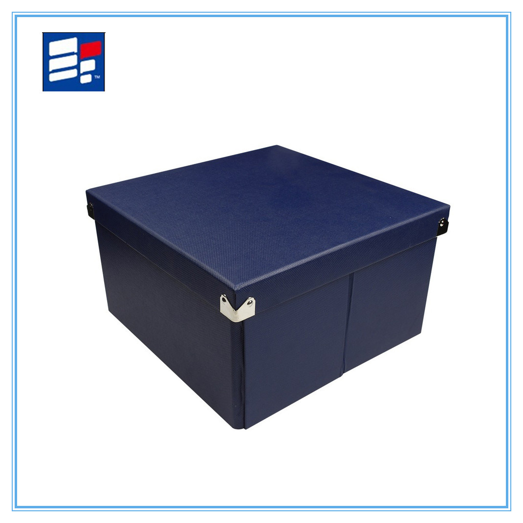 Leatherette Paper Storage Box for Packing Cloth and Shoes