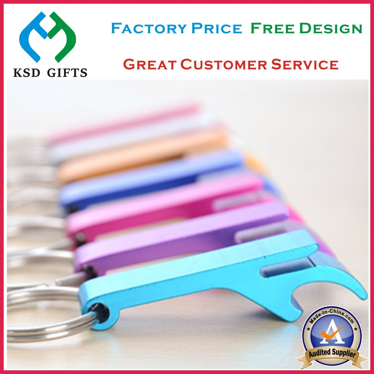 Promotion Cheap Aluminum Bottle Opener Keychain