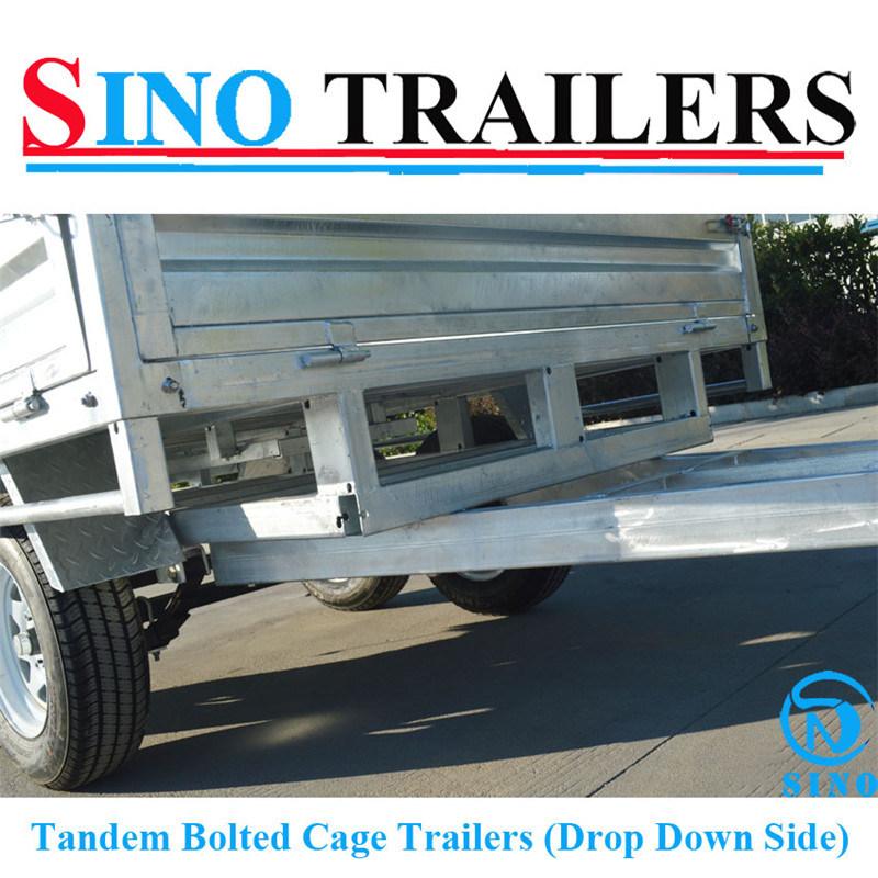 Heavy Duty Drop Side Box Cargo Trailer