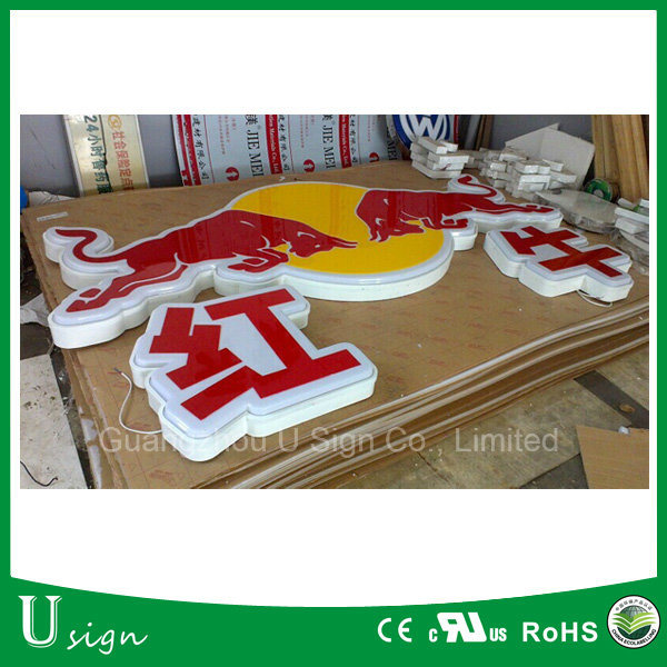 Logo Printing Acrylic Vacuum Forming LED Sign 3D Light Box