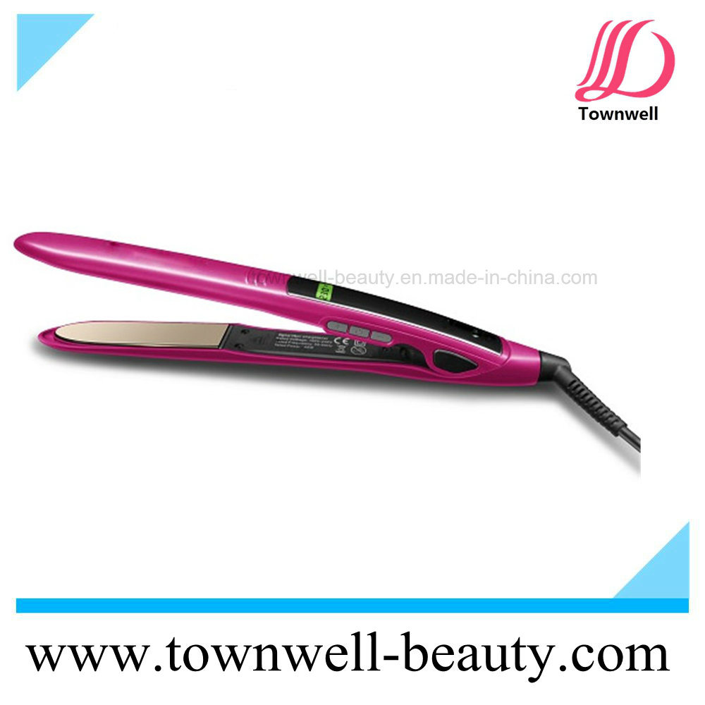 Fast Hair Straightener LCD Display Mch Flat Iron