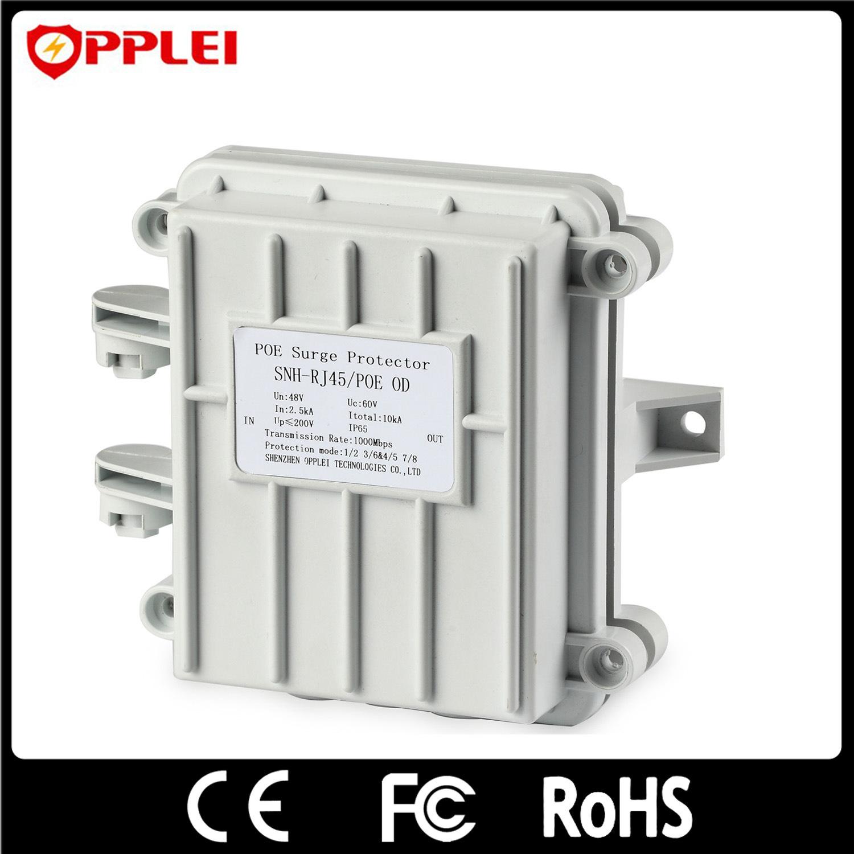 Cat5e Ethernet Power Lightning Protector 1 Channel Poe Surge Arrester