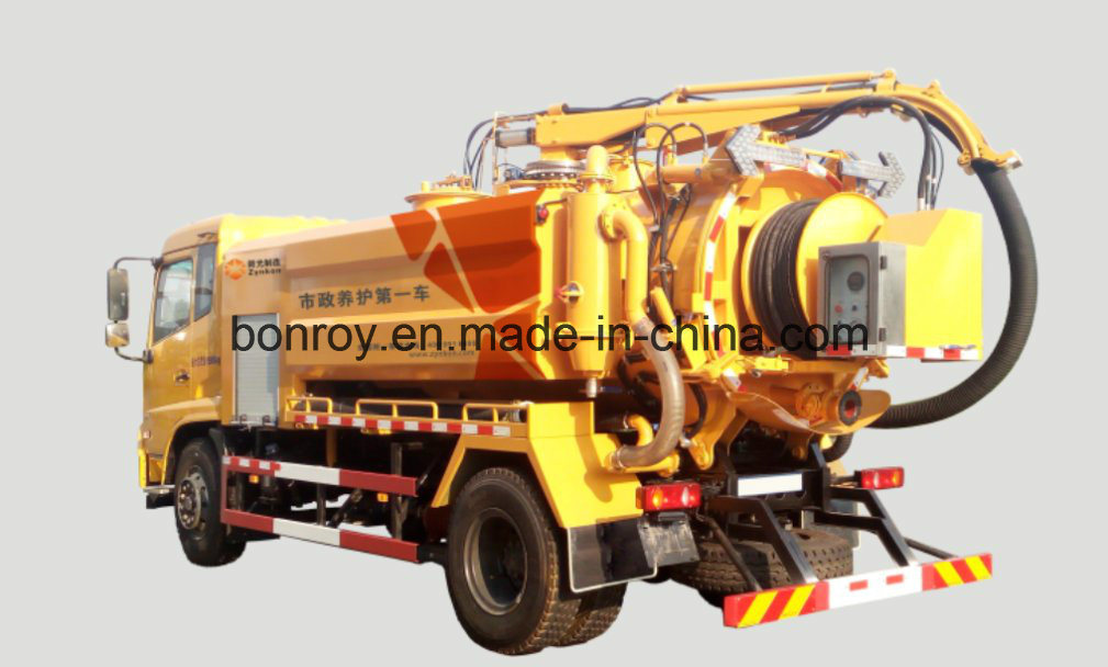 High Pressure Euro 5 Commins Engine Vacuum Suction & Jetting Truck
