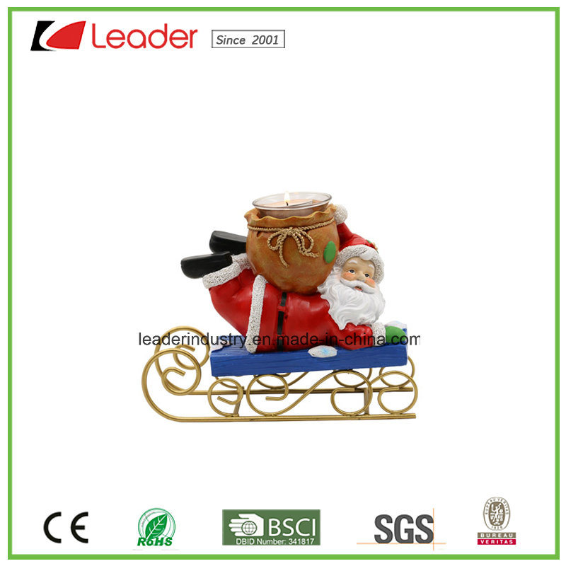 Polyresin Snowman Tealight Holder Christmas Ornaments for Xmas Decoration and Home Decoration