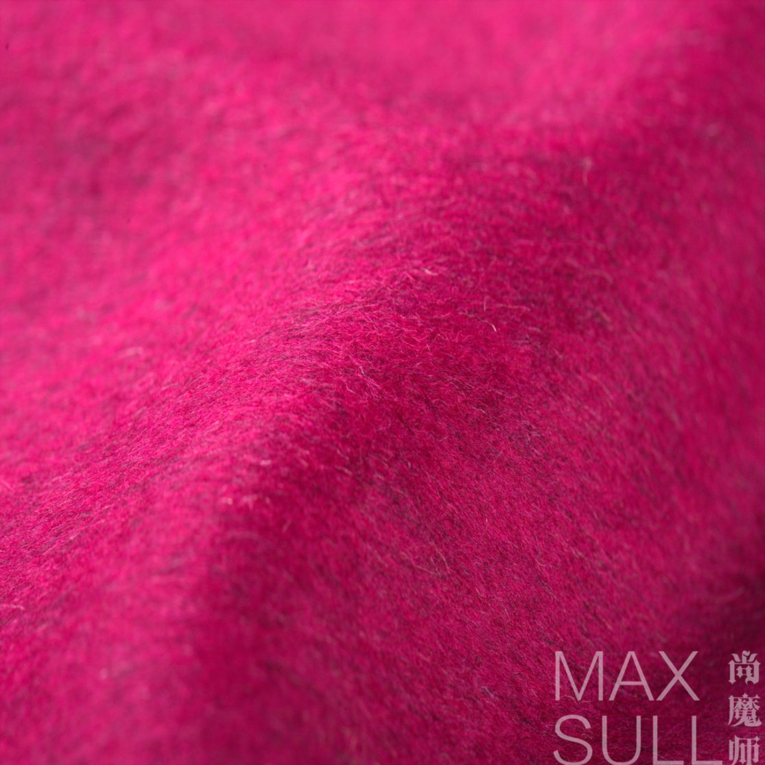 Fashion and Red Wool and Lambswool Fabric