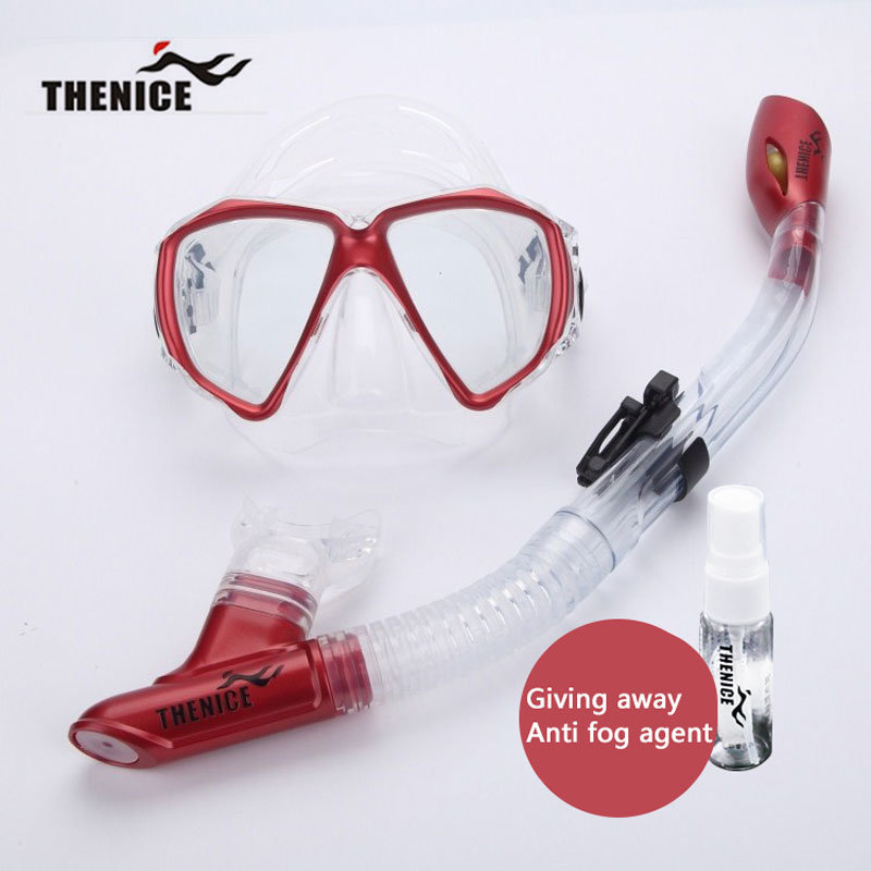 Thenice New Diving Mask Snorkeling Glasses Breathing Tube Silicone Scuba