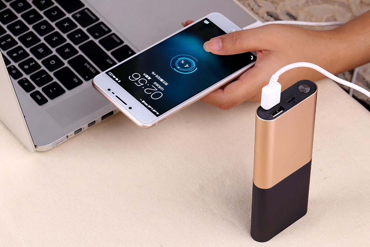 11000 Portable Charger - Compact 11000mAh 2A 2-Port Ultra Portable Phone Charger Portable Power Bank