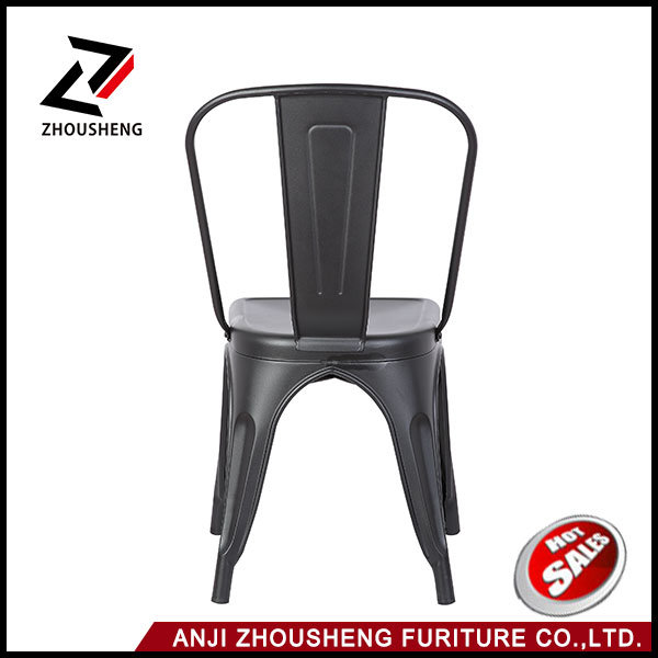 2016 Hot Sale Cafe Furniture Wholesale Dining Chair Vintage with Back Rest