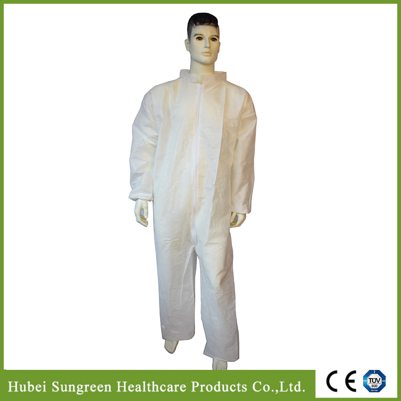 Disposable Dark Blue SMS Non-Woven Coverall, Safety Coverall