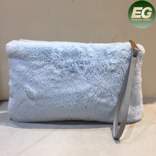 Fashion Lady Pretty Cute Faux Rabbit Fur Handbag Shoulder Messenger Bag Women Clutches Sy8030