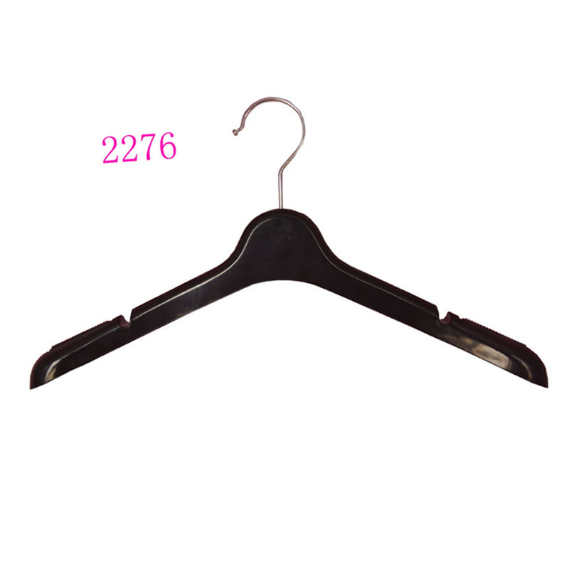 Luxury Brand Custom Plastic No Slip Flocked Coat Hangers