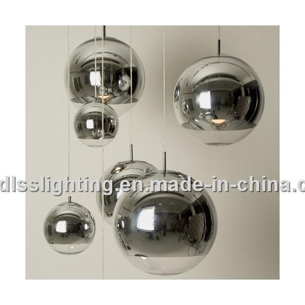 Replica Copper Shade and Mirror Ball Glass Pendant Lamp