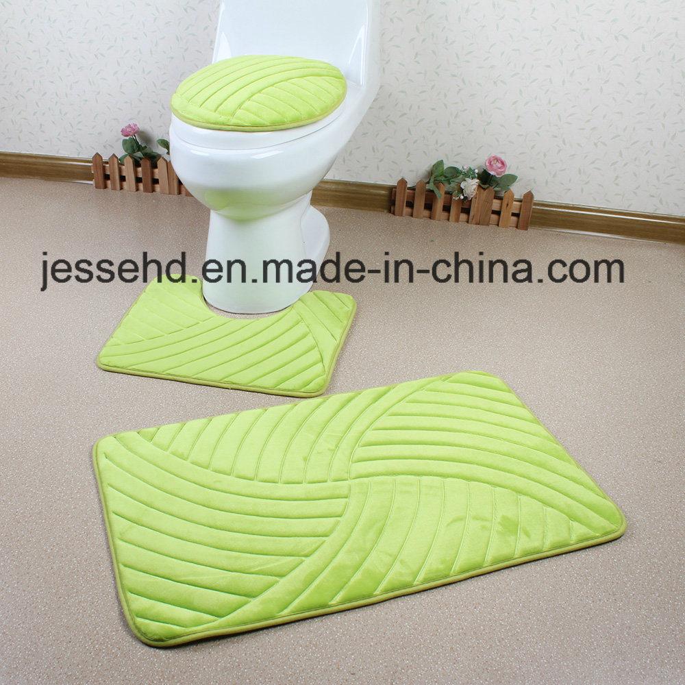 Washable 3PCS Bathroom Sets Decorate Bath Toilet Cover Seat