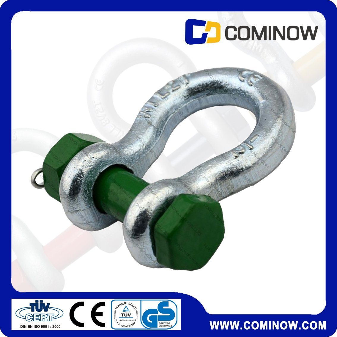 G2130 Us Type Carbon Steel Anchor Shackle with Safety Bolt / Drop Forged Bow Shackle Galvanized