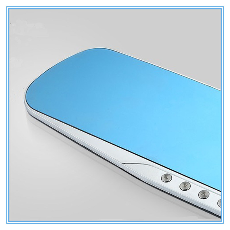 Dual Lens blue Review Mirror Digital Video Recorder Night Vision Car DVR