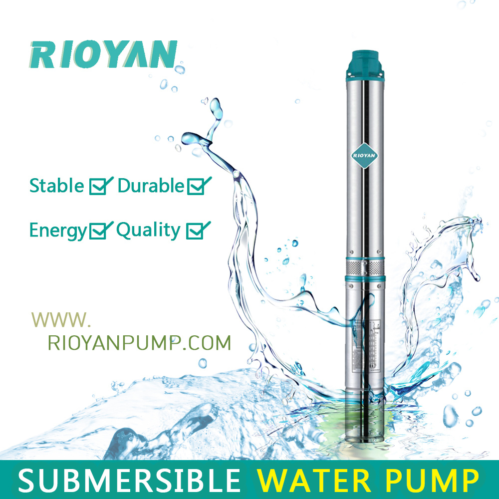 "Low Cost 3"" 180W 0.25HP Cast Iron Copper Wire Bine Profund Submersible Bomba Borehole Pump (75QJD1.8-07/0.18kW)"