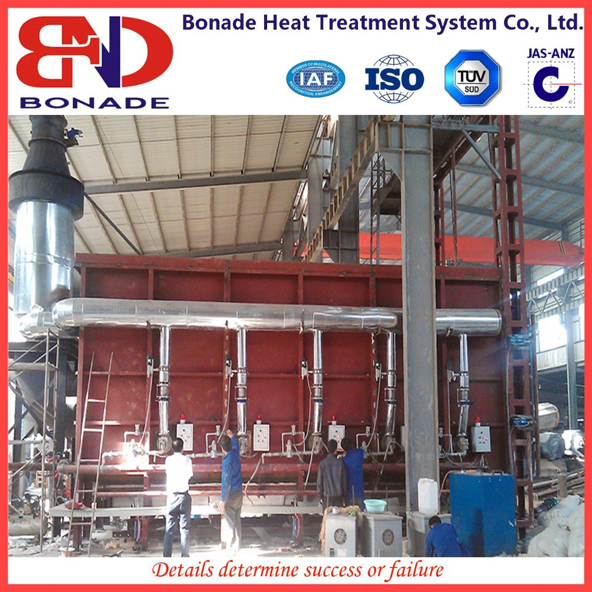 Car Type Gas Heat Treatment Furnace with Regenerative Burner with