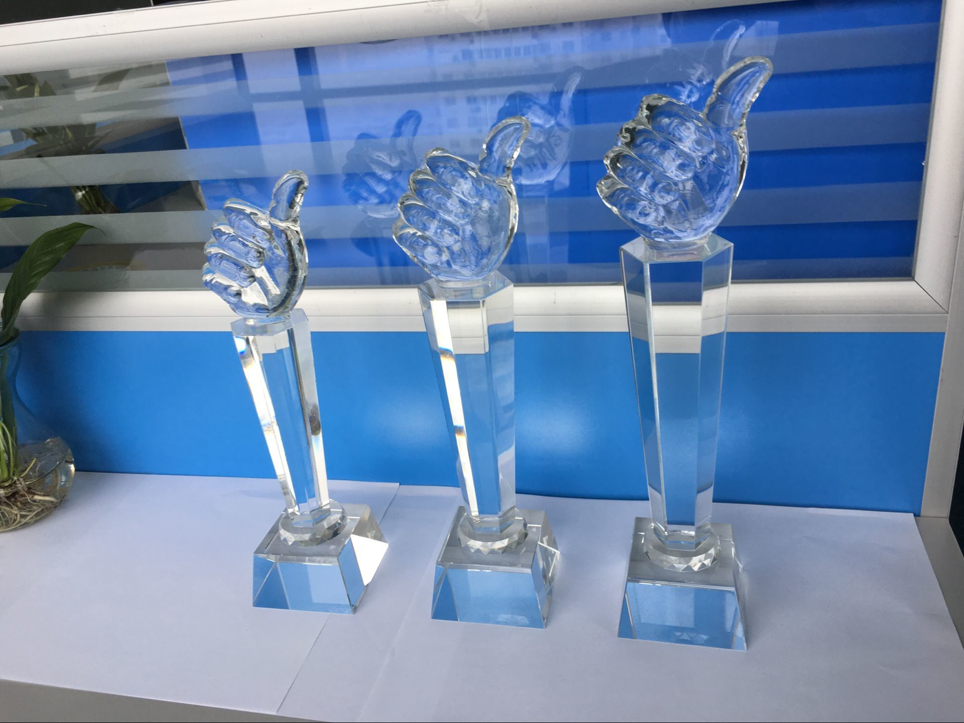 Logo Engraving Crystal Trophy Crystal Award
