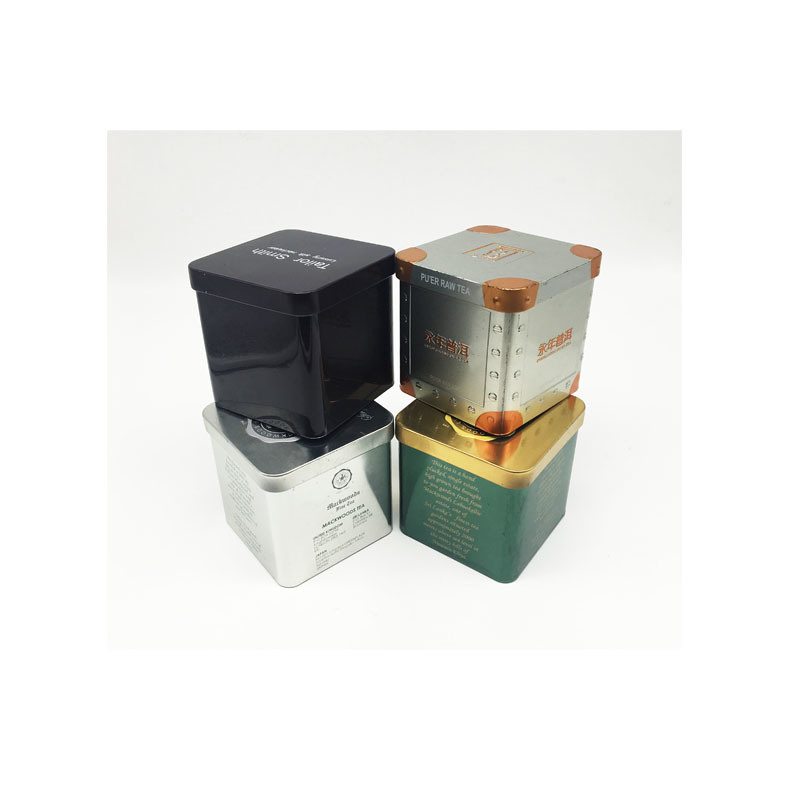 Square Tin Wholesale Metal Tea Tin Box