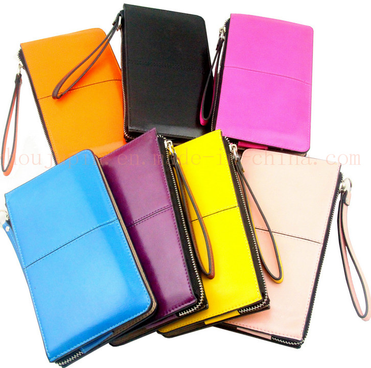 OEM Colorful Bright PU Female Purse Wallet with Zipper